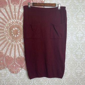 Anthropologie || Sparrow Knit Pencil Skirt